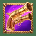สัญลักษณ์ ปืนคู่ Queen of Bounty