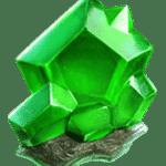 สัญลักษณ์ เพชรสีเขียว Galactic Gems