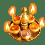 สัญลักษณ์ เทียน Ganesha Gold